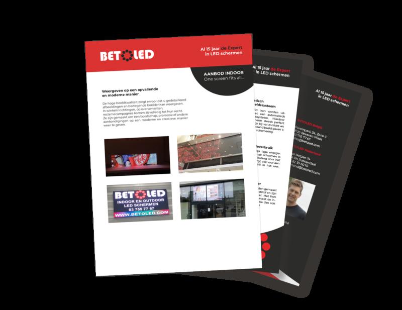Brochure LED indoor