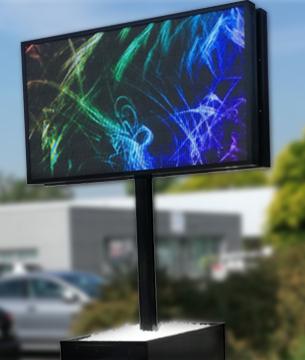 LED scherm bloembak Betoled